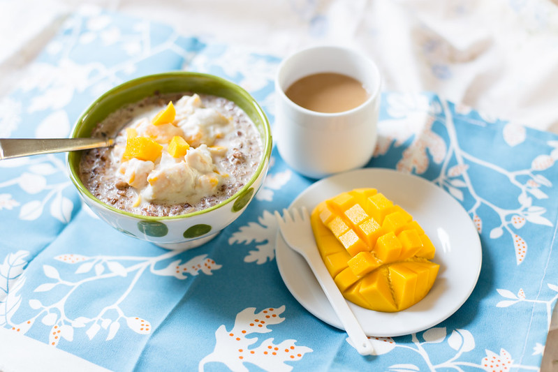 Buckwheat with Mango and Coconut Cream