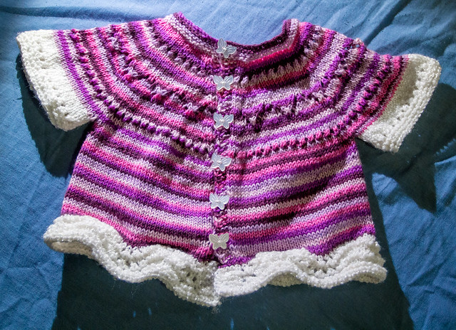 Pretty Purple Baby Cardigan