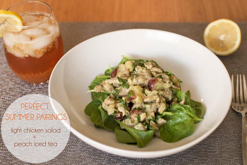 cute & little blog | summer meal pairing recipe | paleo chicken avocado salad, peach iced tea #TEArifficPairs #shop