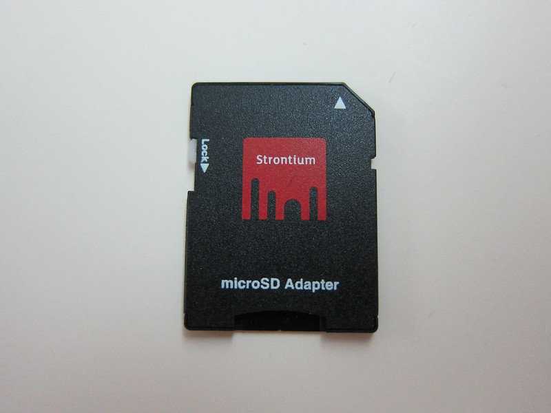 Strontium Nitro Plus MicroSDHC UHS-1 Card - MicroSD to SD Card Adapter Front