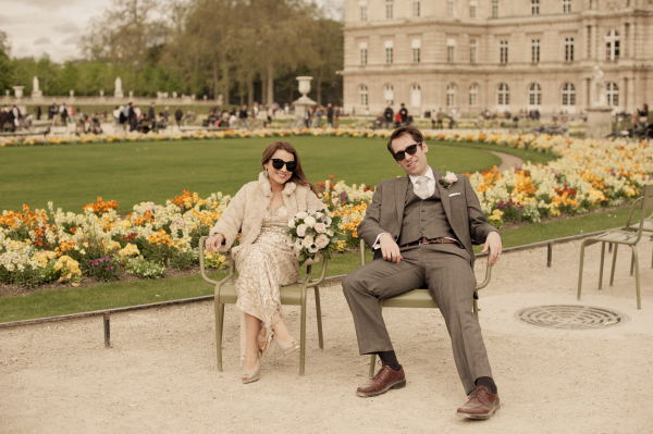 Paris Green Chairs :: Hello Framboise Wedding :: Photo by Juliane Berry