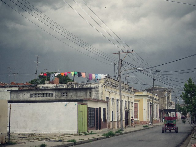 Stormy laundry in Cienfuegos, Cuba