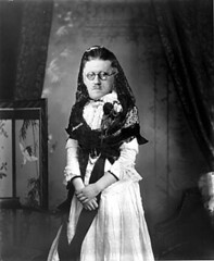 Satirical image of James Joyce in a dress