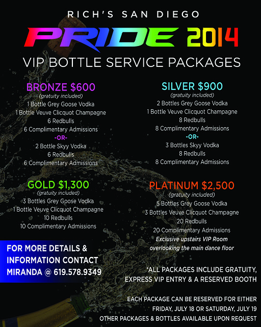VIP BOTTLE SERVICE FLIER