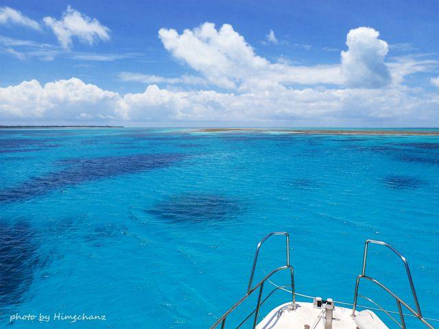 青い空に青い海、これぞ石垣の景色ですね♪
