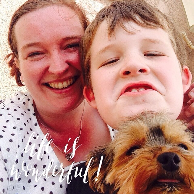 Zack and I were taking #selfies when Kenzi decided to #photobomb us! #yorkie #dogsofinstagram #littlemomentsapp