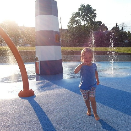 Friday night at the spray park. #365photoproject #day303 #nofilter