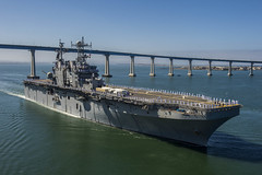 USS Peleliu (LHA 5) departs San Diego June 17. (U.S. Navy/MC2 Kenan O'Connor)