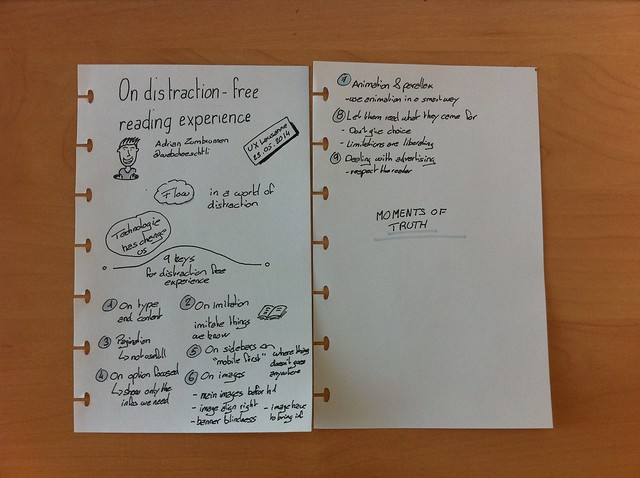 On distraction-free reading experiences sketchnote