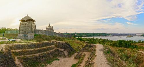 landscape ukraine cossacks панорама природа пейзаж khortitsa украина sitch запорожье казаки хортица сечь запорожскаясечь