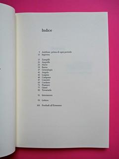Romanzi, collana di Tunué edizioni. Progetto grafico di Tomomot; impaginazione di TunuéLab. Indice: a pag. 4 [Barison] (part.), 1