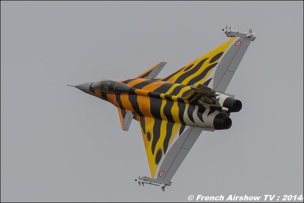 Franck Turbine, Rafale aux couleurs du Tigre RC, AMC Blériot,Meeting Aerien BA-133 Nancy Ochey 2014