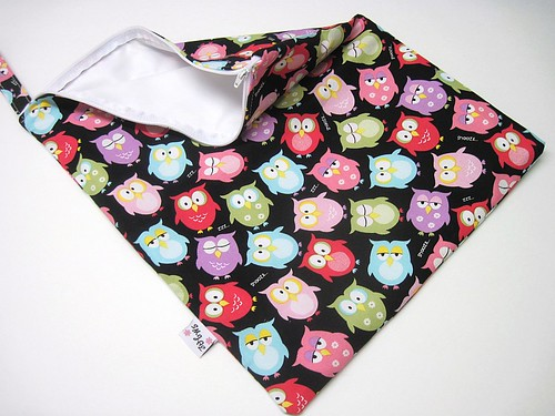 Owls on Black Wet Bag