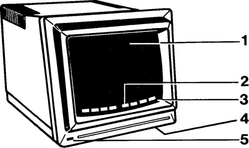 Diagram of computer monitor