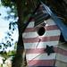 Small photo of American Flag Birdhouse