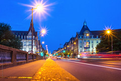 a night on Adolphe Bridge in Luxembourg