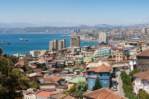 Panoramic view on Valparaiso