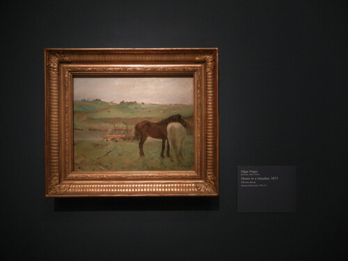 DSCN1818 _ Horses in a Meadow, 1871, Edgar  Degas, National Gallery of Art at Legion of Honor