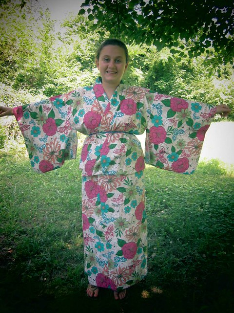 How to put on a yukata 5