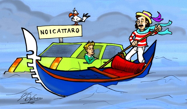 Noicattaro. Vignetta allagamenti 27 Luglio 2014