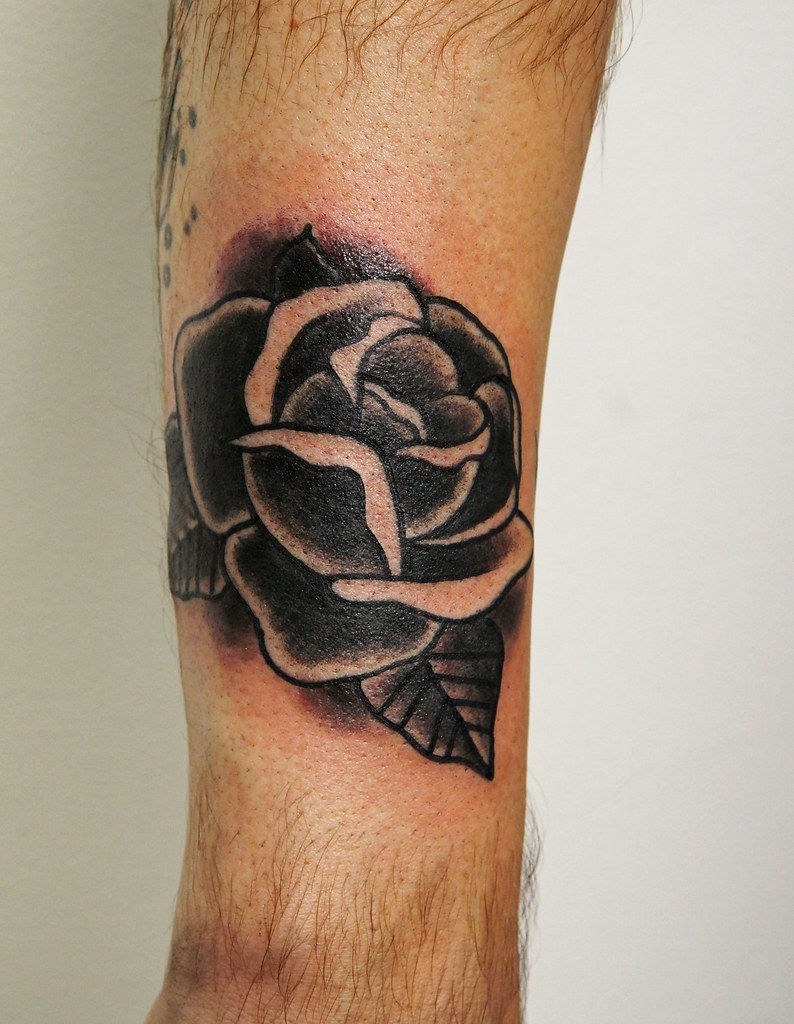 Traditional Black Rose Tattoo Traditional Black Rose Tatto Flickr