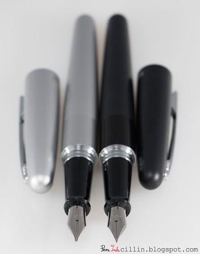 Pilot Metropolitan silver and black nibs