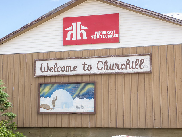 Business sign in Churchill
