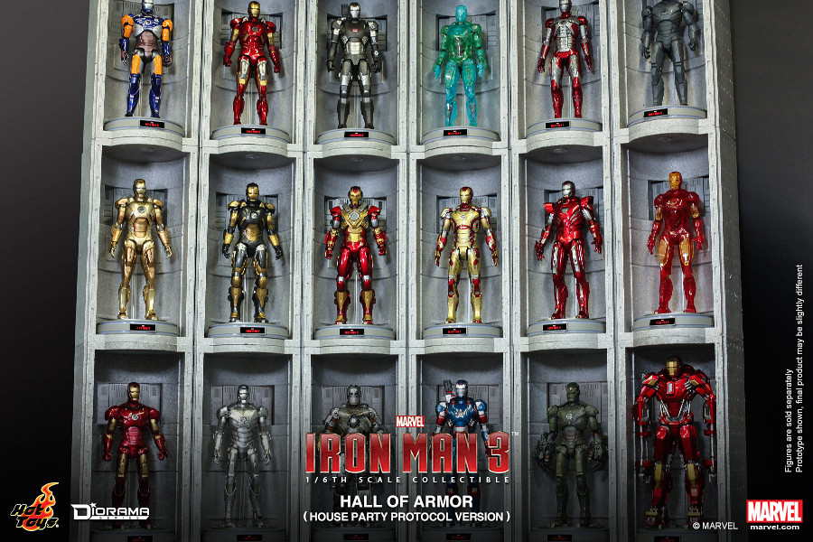 Hot Toys – DS002 – 鋼鐵人【家庭狂歡派對協定版本格納庫】1/6 比例 Hall of Armor House Party Protocol Version