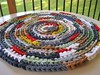New Crochet Colorful Round Rag Rug / Carpet from recycled fabrics