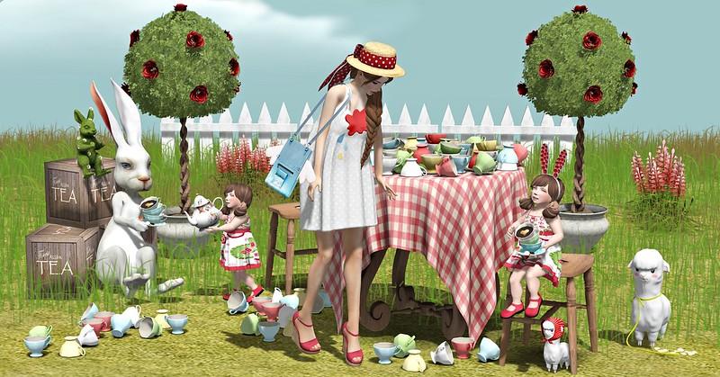 """Amelie et les petites: Episode """"Tea Party"""" - You are the last guest to leave the tea party Mr. Rabbit"""