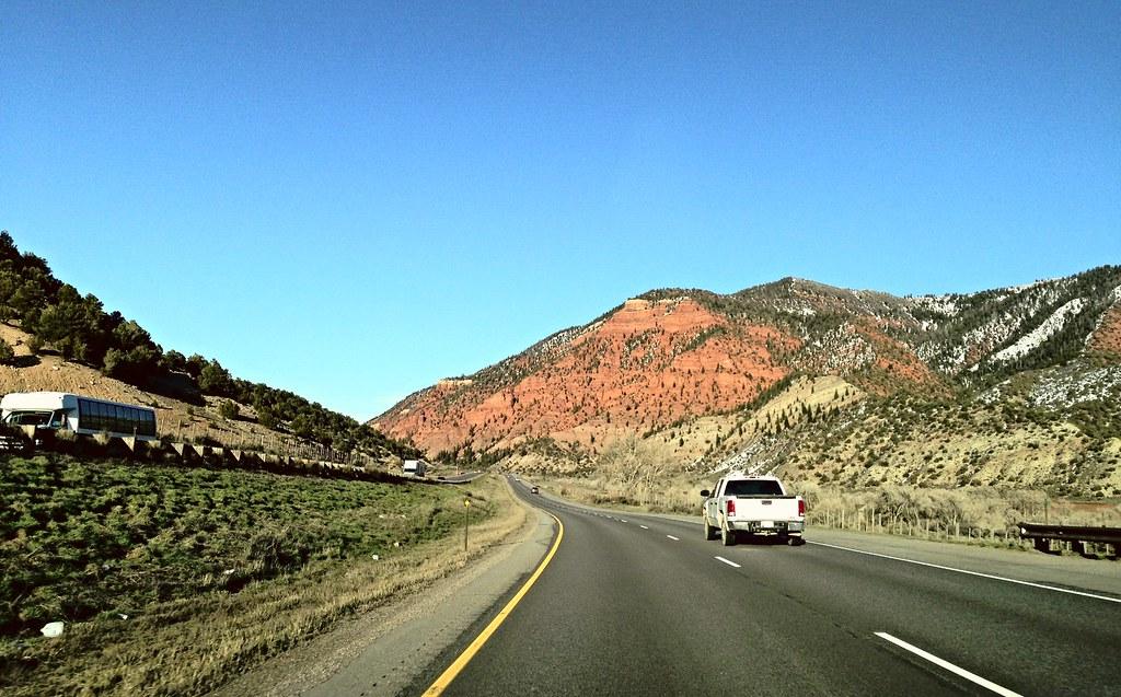Driving towards Vail/Beaver Creek