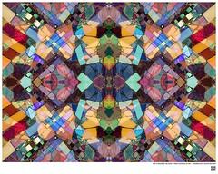 Modern Mandala Title: Owl or Embedded Tile Detail at Watts Towers LA CA VIII  #BartRoss ©2016  #simonrodia #americanfolkart #wattstowers #watts #discoverla #mirrored  #abstractphotography #artprints #Curator #LAart #artistic_share #abstraction