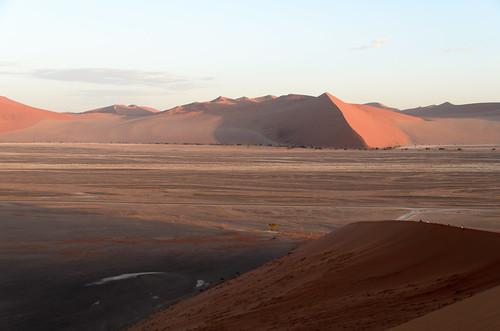 desert dune dune45 landscape sand sunrise hardapregion namibia