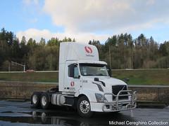 Safeway Transportation Volvo daycab, Truck# 353B