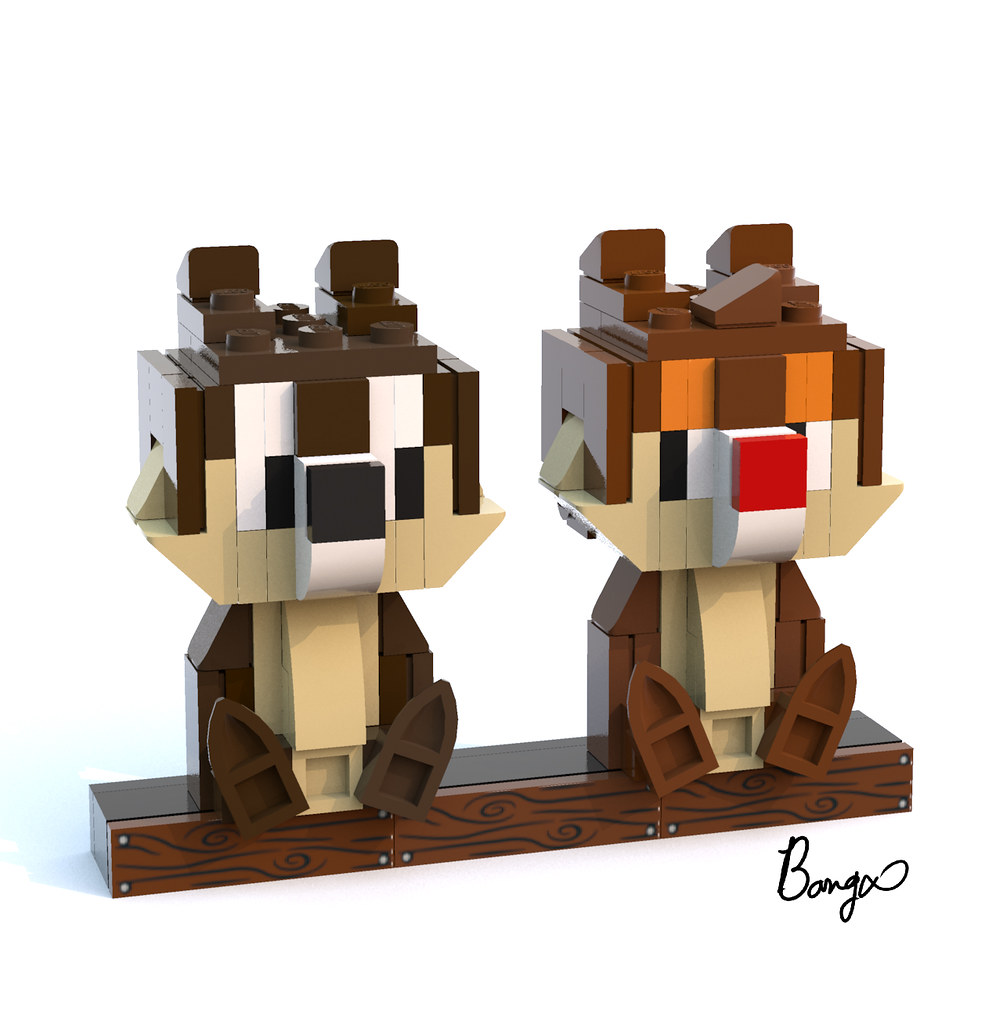 chip and dale (custom built Lego model)