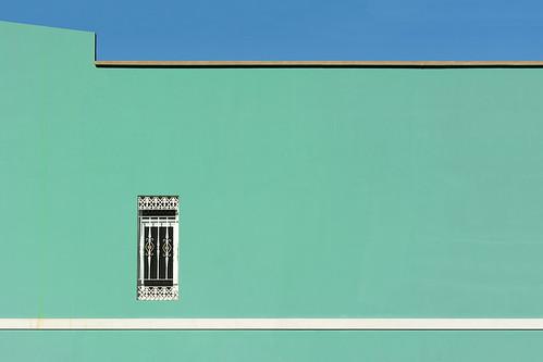 Green wall, white stripe (on Explore)