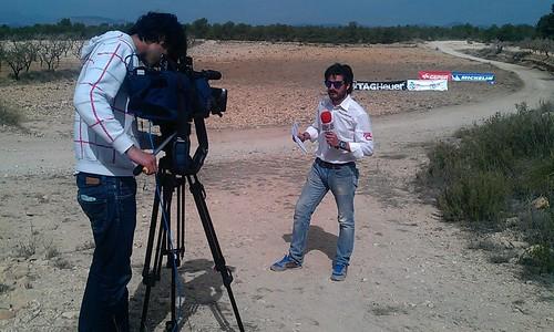 Jorge Tello en un momento de la retransmisión