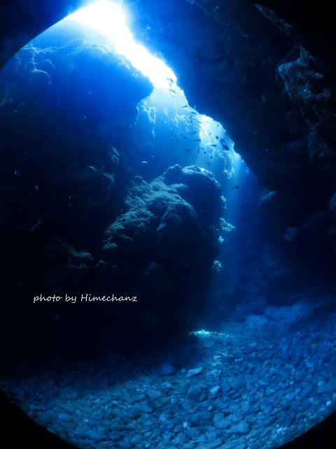 洞窟の光がめっちゃキレイ!!!