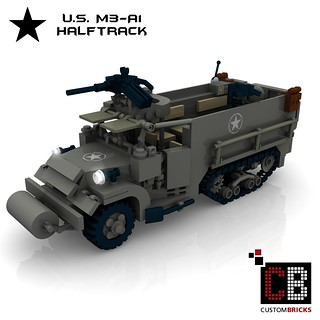 LEGO Custom WW2 M3 A1 Halftrack ART