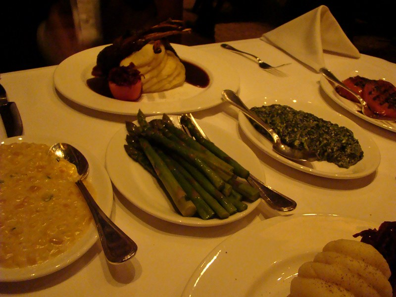 Hy's Steakhouse accompaniments