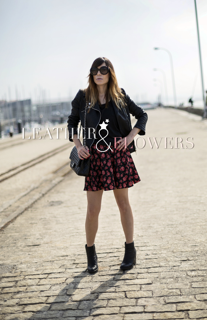 street style barbara crespo santander port leather and flowers fashion blogger outfit blog de moda