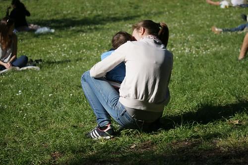 mamam e figlia al parco