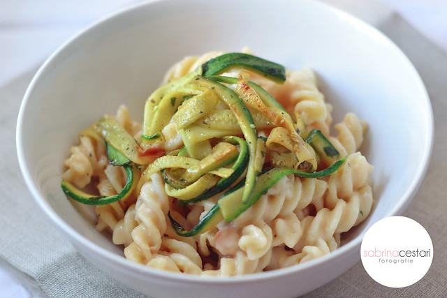 Pastasciutta e fagioli con zucchine