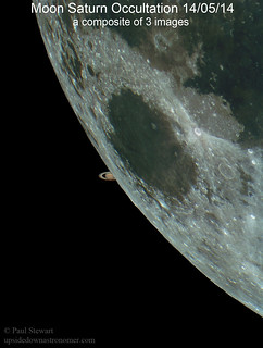 Saturn Moon Occultation | by upsidedown astronomer