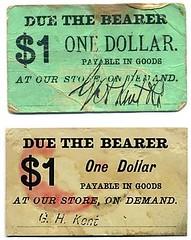 Kent $1 scrip