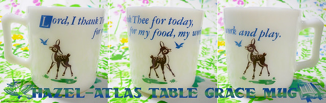 Hazel Atlas Table Grace Mug 4