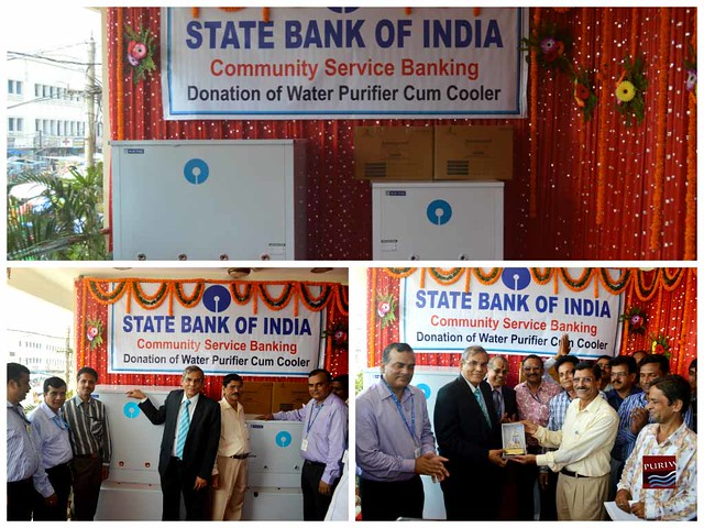 State Bank of India, donated 02 nos of Water purifier Cooler to Shri Jagannath Temple
