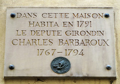 Photo of Charles Barbaroux marble plaque