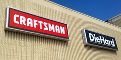 Sears Craftsman Tools Sign Logo hardware store power pics by Mike Mozart of TheToyChannel and JeepersMedia on YouTube #Craftsman #SearsCraftsman #SearsCraftsmanTools #Sears #SearsStore #SearscraftsmanToolsSign #SearsSign #CraftsmanSign #CraftsmanTools