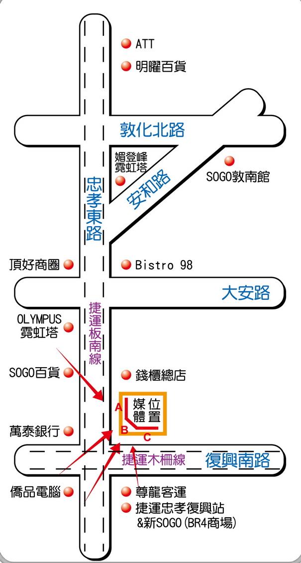 台北市忠孝東路四段2號map